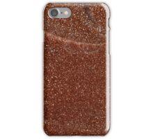 Macro photo of Goldstone glass iPhone Case/Skin