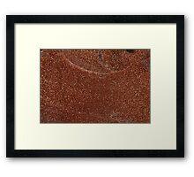 Macro photo of Goldstone glass Framed Print