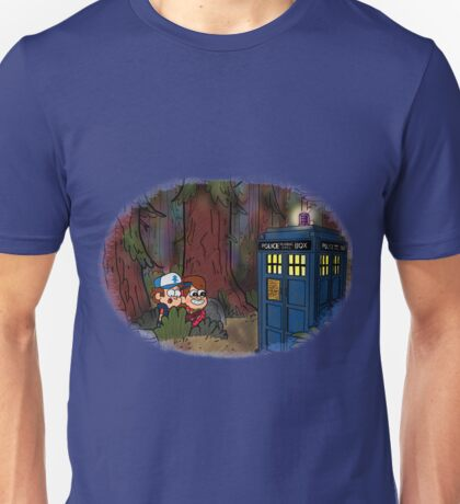 A TARDIS at Gravity Falls Unisex T-Shirt