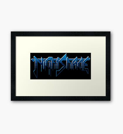 Nightshade - NES Title Screen Framed Print