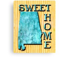 Sweet Home Alabama Typographic Map Art Canvas Print