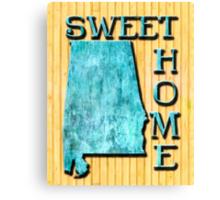 Sweet Home Alabama Typographic Map Art Canvas Print