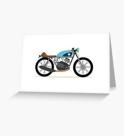 Vintage motorcycle, Café Racer Greeting Card
