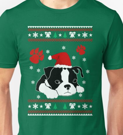 Boston Terrier Dog Christmas Shirts and gift 2016 Unisex T-Shirt