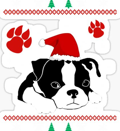 Boston Terrier Dog Christmas Shirts and gift 2016 Sticker