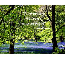 FLOWERS are Heaven's Masterpiece Photographic Print