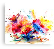 """Watercolor Garden"" Canvas Print"