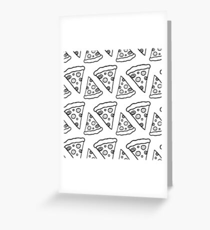 Ink Pizza Greeting Card