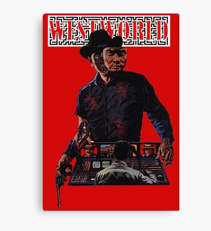 WESTWORLD SCI-FI WESTERN ANDROID  Canvas Print