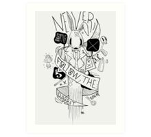 Follow the Rabbit Art Print