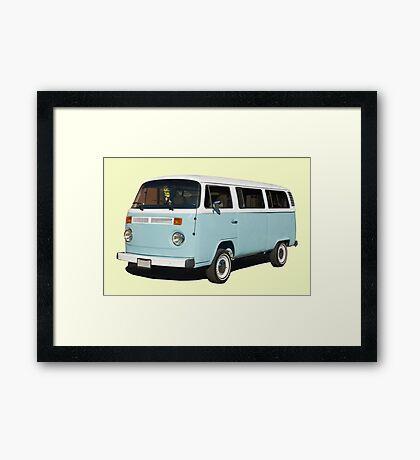 vintage blue van Framed Print