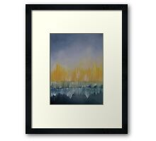 The Sea Is On Fire Framed Print