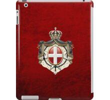 Sovereign Military Order of Malta Coat of Arms over Red Velvet iPad Case/Skin