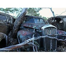 Abandoned Rusted Car Photographic Print