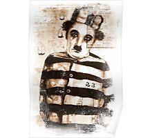 Charles Chaplin original  ink painting Poster