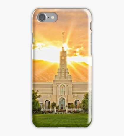 Mount Timpanogos LDS Temple iPhone Case/Skin