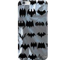 evolution of batman logos iPhone Case/Skin