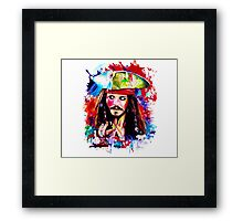 """Captain Jack Sparrow"" Framed Print"