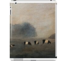 Black and White Striped Cows in Pasture iPad Case/Skin