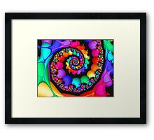 Spin of the Rainbow Framed Print