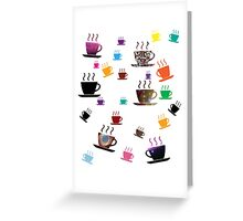 Cups of coffee Colorful Greeting Card