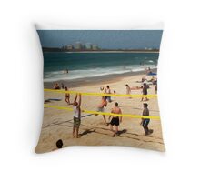 Volleyball at Mooloolaba, Queensland Throw Pillow