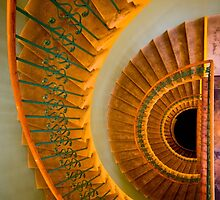 Golden spiral staircase by JBlaminsky