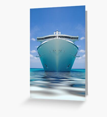 Cruise ship IV Greeting Card