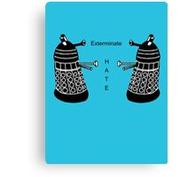 Surprisingly Positive Daleks Canvas Print