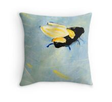 Bee going up Throw Pillow