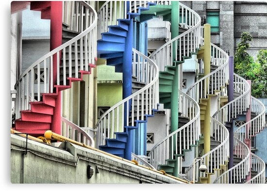To Go Up or Down in Circles in Singapore. by Larry Lingard-Davis
