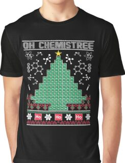 Chemist Element Oh Chemistree Ugly Christmas Sweater T-Shirt Graphic T-Shirt