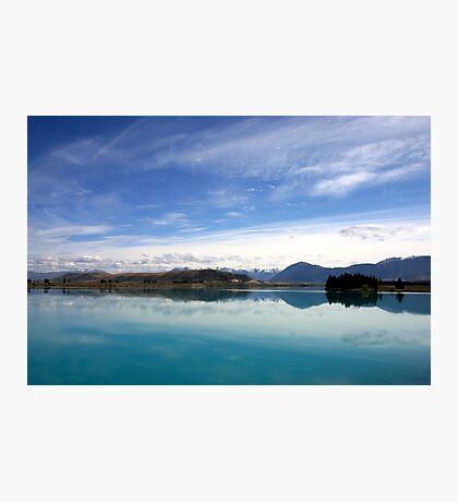 Lake Ruataniwha, New Zealand landscape 2 Photographic Print