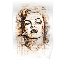 Marilyn Monroe original  ink painting Poster