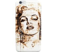 Marilyn Monroe original  ink painting iPhone Case/Skin