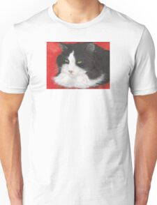 Tuxedo Cat Cathy Peek Animal Pets Lazing Portrait Unisex T-Shirt