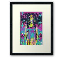 Neon Horror: Carrie Framed Print