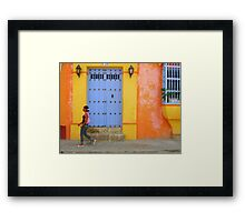 Colonial Style with Colorful Touch Framed Print