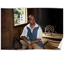 Colonial Shoemaker at Mt. Vernon Poster