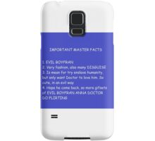 IMPORTANT MASTER FACTS Samsung Galaxy Case/Skin