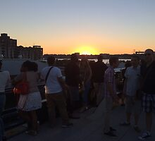 Sunset on the High Line, New York City's Elevated Garden and Park by lenspiro