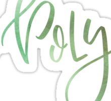 Cal Poly Green Watercolor Sticker