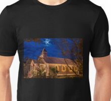 Little Village Church at Christmas with Star from Heaven Unisex T-Shirt