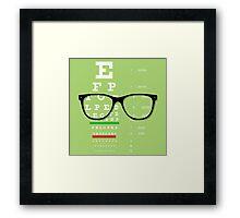 Eyeglasses Chart 01 Framed Print