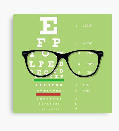Eyeglasses Chart 01 Canvas Print