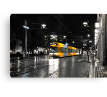 Late at night in Dresden Germany. Canvas Print