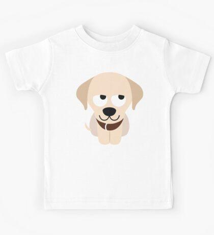 Labrador Retriever Emoji Thinking Hard and Hmm Look Kids Tee