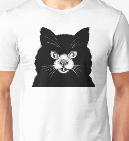 Cat Mouse - Optical Illusion  Unisex T-Shirt