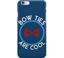 Doctor Who - Bow Ties are cool iPhone Case/Skin