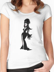Lady in the Black Dress Women's Fitted Scoop T-Shirt